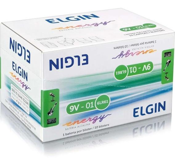 Pilhas 9v Alcalina Caixa C/ 10 Un. - Elgin
