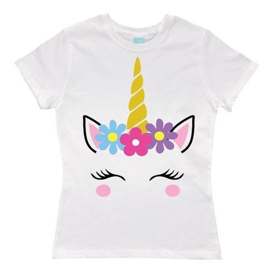 Blusa Unicornio Flores Fiesta Evento Cumpleaños