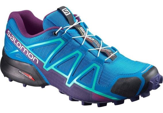 Tênis Salomon Speedcross 4 Azul Claro/roxo Feminino