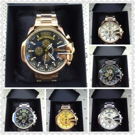 Relógios Masculino Mod. Italiano + Caixa - Kit Com 10 Und.
