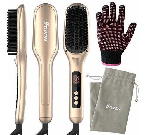 Imagen 1 de 7 de Ceramic Ionic Hair Straightener Brush180-450,htwon 30s