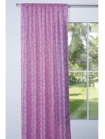 Cortinas Pink Decoración Recamara Rosa Transparencia Media