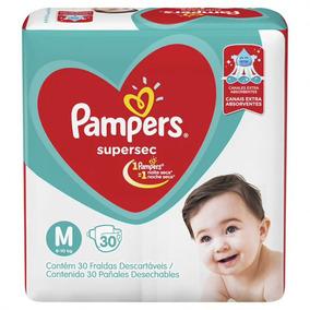 Kit 5 Pacote Fralda Pampers Supersec M + 5 Pacotes Tamanho G