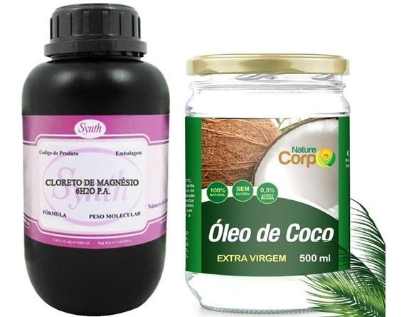 Cloreto Magnésio Pa 1kg + Oleo De Coco Extra Virgem 550ml