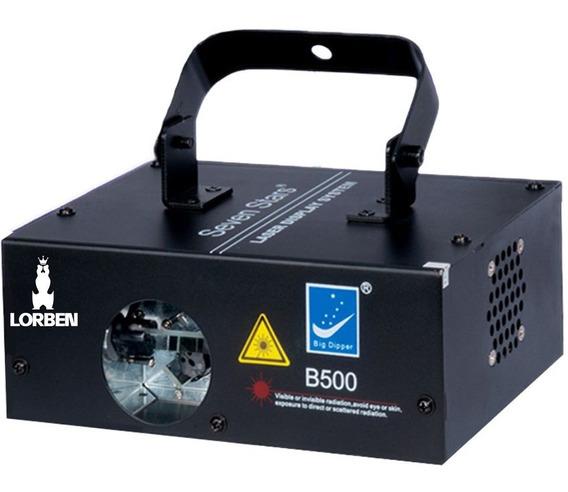 Laser B-500 500mw Bivolt Azul Dmx Com Sensor Som Strobo