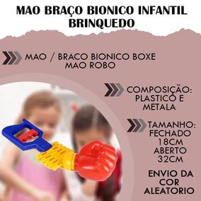 Mao Braço Bionico Infantil Brinquedo Robo Boxe Crianças
