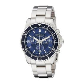 Relógio Victorinox 241689 Maverick Crono Prata Original