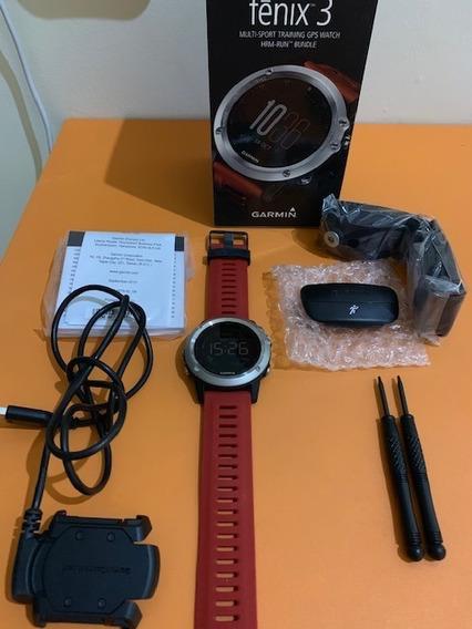 Smartwatch Garmin Fenix 3 Hrm-run Bundle Cinta Pulseiras Ferramenta
