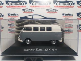 Volksw Kombi 1200 1957 Ed 39 Carros Inesquecíveis Brasi 1/43