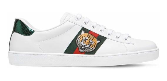 Tenis Gucci Ace Sneakers Tiger 7g Auténticos!