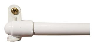 Varilla Visillo Blanca Extensible 63 A 93 Cm Para Cortina