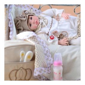 Bebê Reborn Promoção 53cm Princesa Boneca Senta Rapido Bolsa