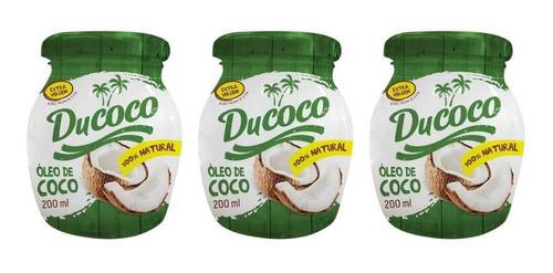 Imagem 1 de 1 de Ducoco Óleo De Coco 200ml (kit C/03)