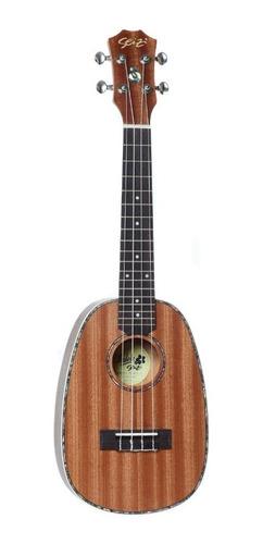 Ukulele Seizi Maui Plus Pineapple Concert Acúst. Bag Sapele