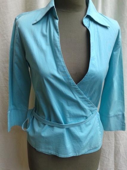 Camisa Cruzada Con Cinto 100% Algodon Precio Cada Una