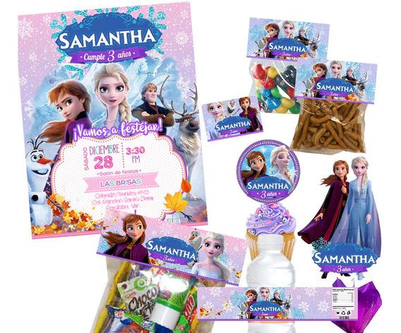 Kit Candy Bar- Imprimible Frozen 2