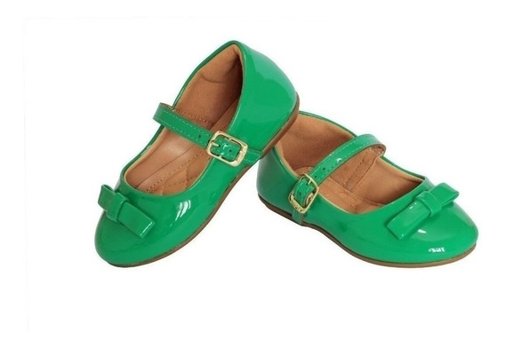Sandalia Verde Verniz Para Bebe Criança Sapatinho Menina Ver