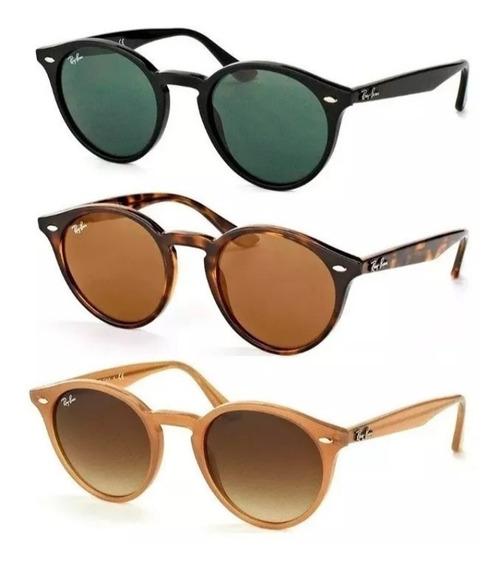 Oculos De Sol Ray Ban Round Rb2180 - Laranja