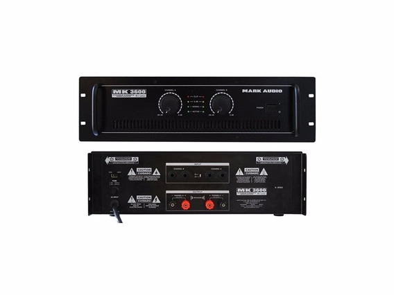 Amplificador Potência Mark Audio Mk3600 600rms Mk-3600 + Nfe