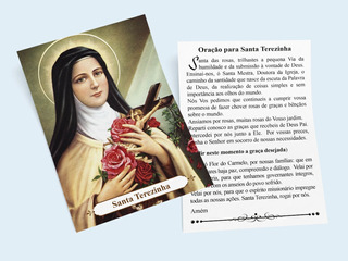 Santinhos Nossa Senhora Santa Terezinha 1000 Unid