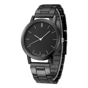 56e69bf29ff2 Reloj Metálico Negro Elegante Mayoreo Envio Gratis