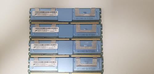 Imagem 1 de 1 de Memoria Servidor Micron 16gb Ddr2 Sdram Pc2-5300f 2rx4