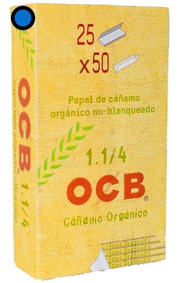 Papel Para Armar Cedas 1.1/4 Ocb Organico Pack X 25 Caseros