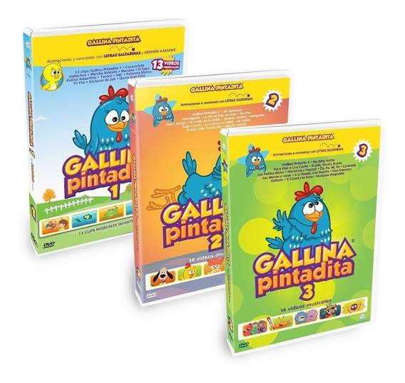Combo: Dvds Gallina Pintadita 1 + 2 + 3