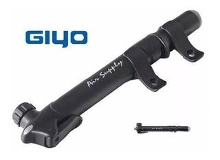 Inflador Bicicleta Doble Valvula Giyo Gp45l