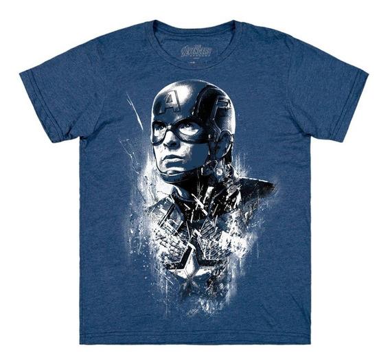 Playera Mascara De Latex Captain Steve Roge Avengers Endgame