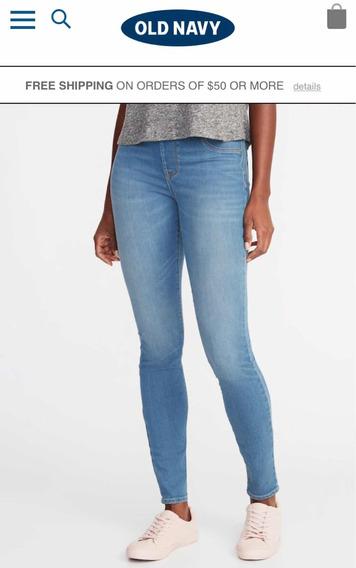 Pantalón Blue Jean Old Navy Super Skinny Talla 4 Original