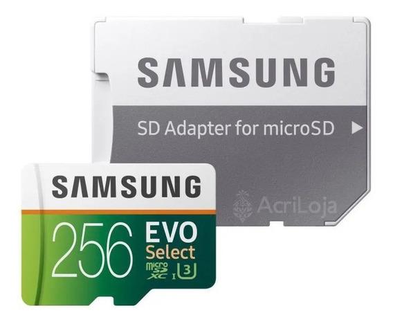 Micro Sd Samsung Evo Select 256gb Class 10 4k U3 + Adaptador