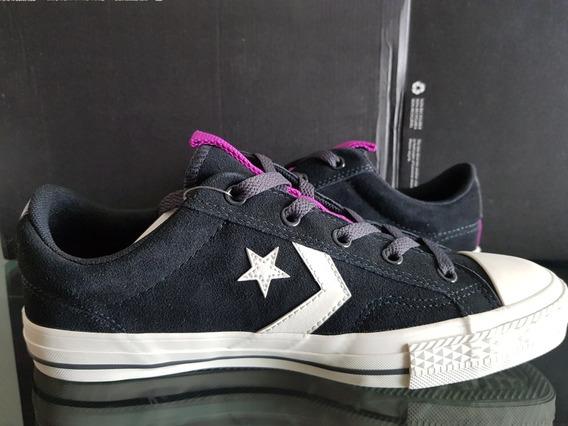 Converse Star Player Para Dama Negro En Gamuza 162567