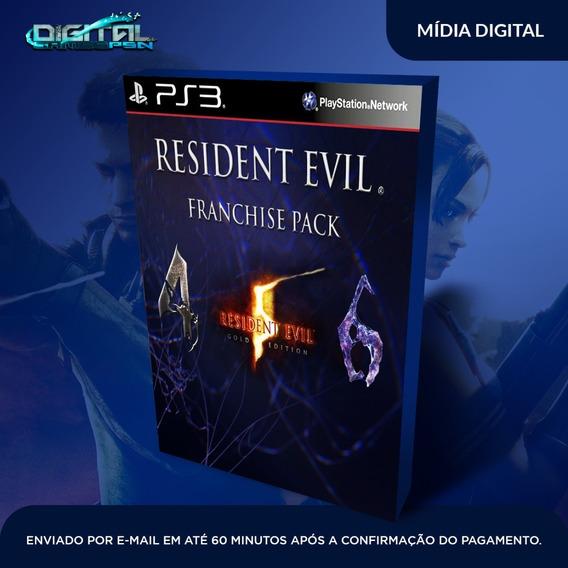 Resident Evil Franchise Pack Ps3 Midia Digital Em 10 Min!