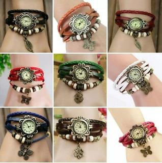 Reloj Pulsera Vintage Mujer De Moda X10 Unidades X Mayor Ya! *** Full-time Mania *** Mercadolider Platinum !!