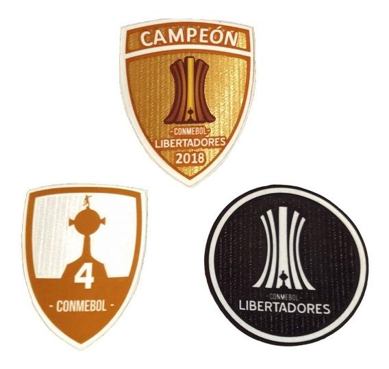 Parches Campeón Copa Libertadores 2018! Incluye Los 3!