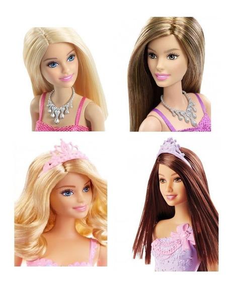 Barbie Coleção Bonecas 4 Pçs Original Mattel