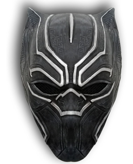 Mascara Latex Pantera Negra Black Panther T