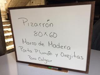 Pizarron Marco De Madera De 80 Cm X 60 Cm