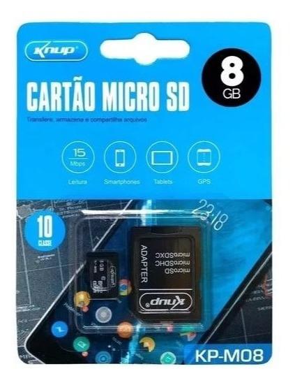 Cartão De Memória Micro Sd 8gb Câmera Tablet Lacrado M08