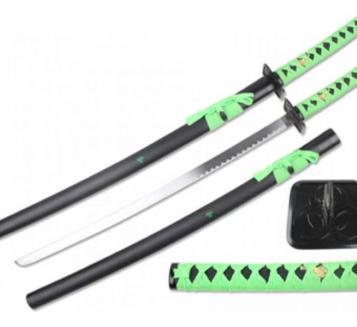 Espada Katana Samurai Ninja Green Verde 98cm