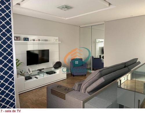 Cobertura Com 2 Dormitórios À Venda, 106 M² Por R$ 750.000 - Vila Augusta - Guarulhos/sp - Co0029