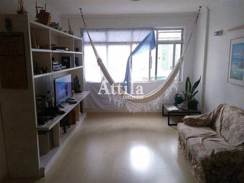 Apartamento Com 2 Dorms, Ponta Da Praia, Santos - R$ 585 Mil, Cod: 1735 - V1735