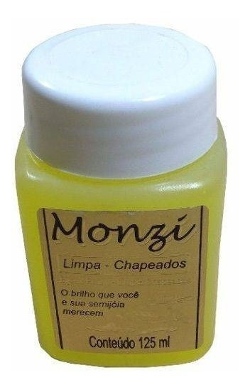 Limpa Chapeados Semi Joias Limpador Liquido Monzi 125ml