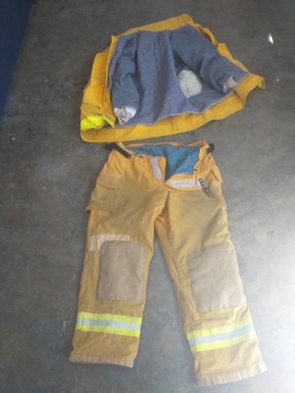 Equipo Proteccion Personal Bomberos Chaqueton Pantalon Monja