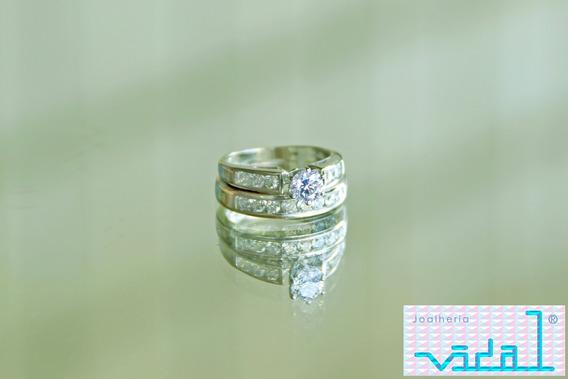 Anel Ouro Bco 14k Americano E Diamantes. Promoção!!