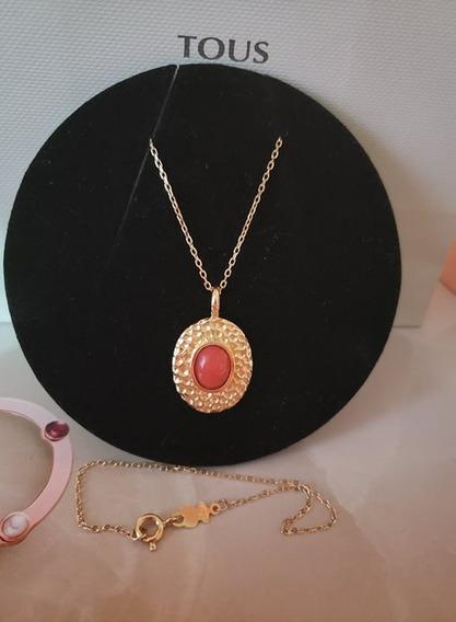 Gargantilla Tous Oro 750 Original Con Coral No Tiffany Tane