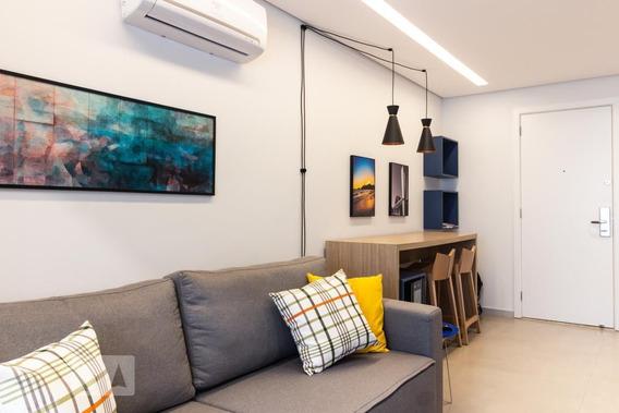 Apartamento No 12º Andar Mobiliado Com 1 Dormitório E 1 Garagem - Id: 892969083 - 269083