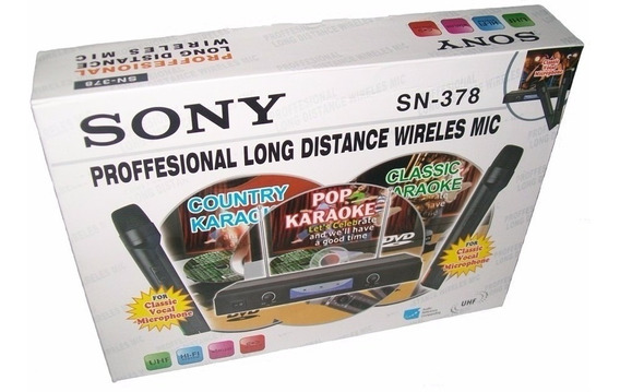 Kareoke Sony Profesional Inalambrico Modelo Sn- 378