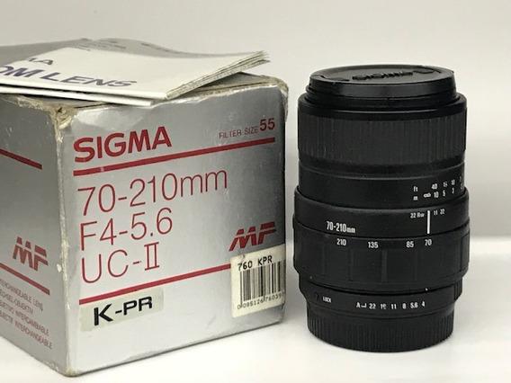 Lente Sigma Zoom 70~210 1:4-5.6 Ucii Pentax K(manual).